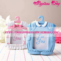 Pink/Blue Cute Clothes Baby Birthday Resin Photo Frame Souvenir Home Decoration Accessories Baby Shower Favor Gifts