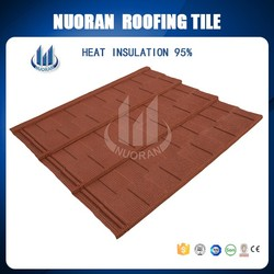 China Supplier House Plans House Construction Material Stone Coated Metal Roof Tile