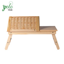 Portable Folding & adjustable bed study tray Bamboo laptop table