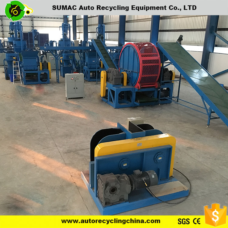 High quality automatic waste tire shredder recycling machine