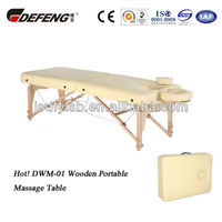Hot! DWM-01 Wooden Portable Massage Table