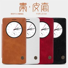 Hot Nillkin Qin Classic Flip Matte Leather Window Cover Case For LG G4
