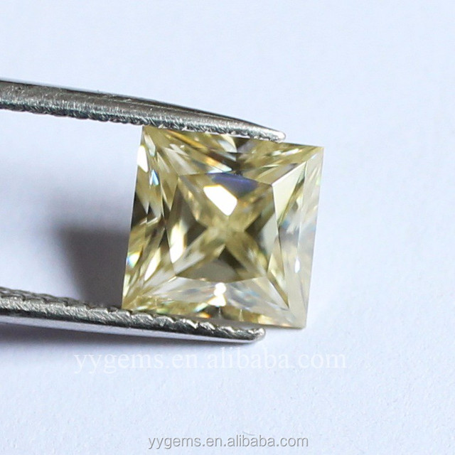 2 carats lot VVS G/H/I /pointer princess cut diamonds loose yellow moissanite natural gemstones