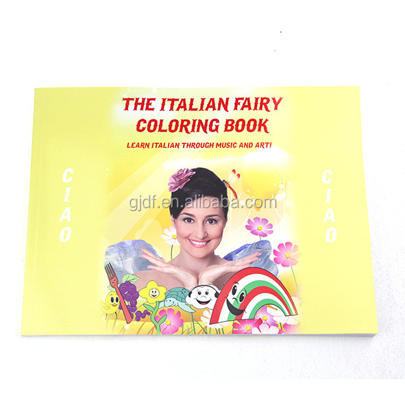 Canton fair Best selling fashion recycle Custom fairy coloring book printing with cheap price
