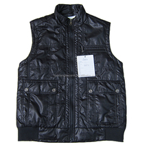 OEM Winter sleeveless Vest mens outdoor 50 glossy body warmer vest