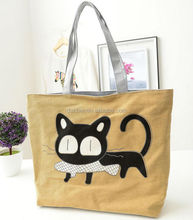 2015 hot selling new desginer Cute Preppy Cat Single canvas Shoulder Bag For Girls
