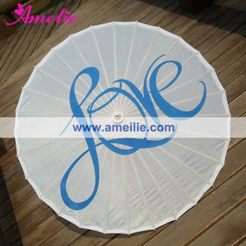 Custom Clear Printed Love Craft Umbrella