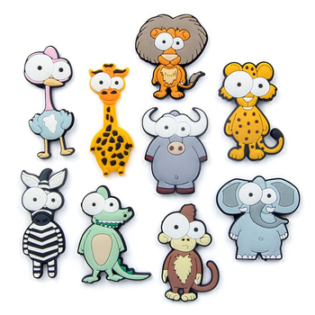 Custom 3D Cute Cartoon Animal Soft Rubber PVC Fridge Magnets for Kids Gifts
