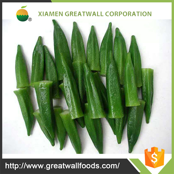 Frozen okra cut&sliced and iqf vegetable