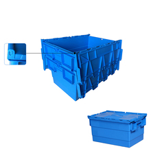 Wholesale heavy duty pp storage stackable moving plastic tote box with lid