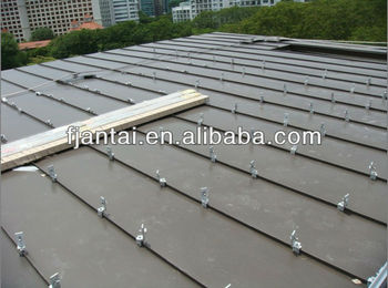 Standing seam metal sheet roof tin roof solar panel mounting system