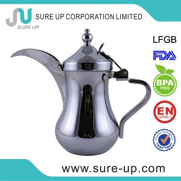 Guangdong factory luxury antique arabic golden thermos tea coffee pot dallah for family use (OSAA)