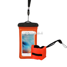 Floating Clear Touch Screen PVC Waterproof Shockproof Dustproof Cell Phone Water Proof Floating Wrist Strap for galaxy S7 S7 Edg