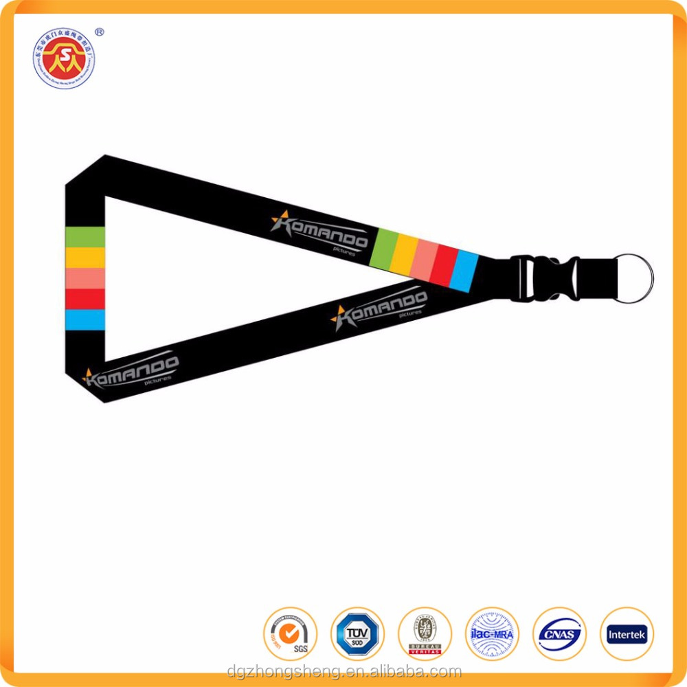 2017 new style Colorful Job card Lanyard for key