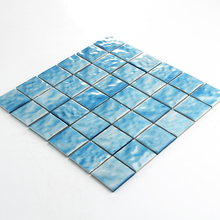 Best Price Waved Surface glazed Porcelain Mosaic Ceramic Swimming Pool Tile