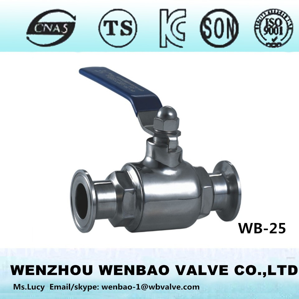WB-25 2 way stainless steel ASTM A182 F316 sanitary ball valve /water valve