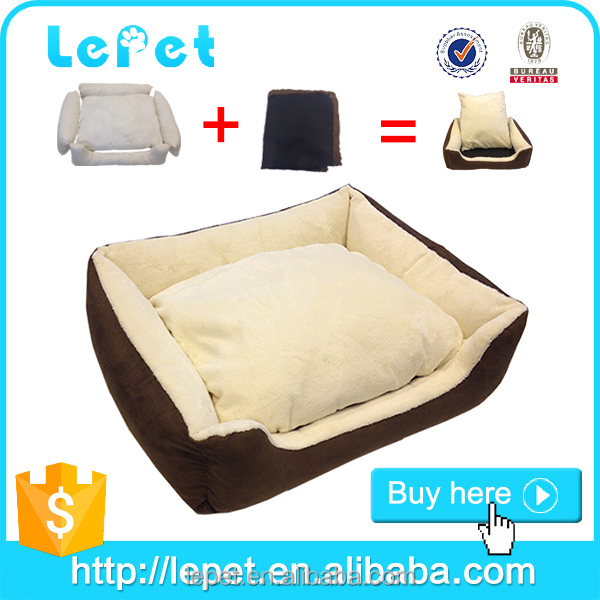 Wholesale custom logo Cheap washable Soft cozy dog bed luxury