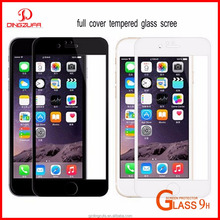 Full Cover 3D Curved tempered glass 9H 3D anti blue tempered glass screen protector for iphone 6/7 wholesale