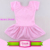 Short Sleeve Ballet Skirt Dress Kids Girls Pink Cotton Tutu Leotard With Skirt