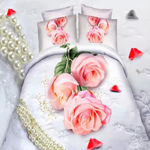 Luxury design bright Pink Rose and white color bed sheet fasteners
