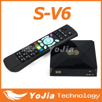 HD digital Mini satellite receiver S-V6 set top box with AV output