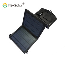fast charging 5V 3A 21w sunpower folding solar kit dual usb panel charger