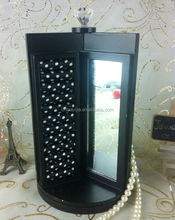 Wooden Rotate Display Of Jewelry With Mirror Jewelry Display holder