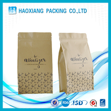 Food grade kraft paper bags with security raw material and zipper