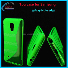 China wholesale S wave gel tpu case for Samsung galaxy Note edge,S line tpu cover case for Samsung galaxy Note edge