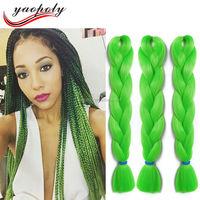 Synthetic expression Braiding Hair 24inch 100g/pcs Jumbo Braid Bulk jumbo African Braiding Hair style Crochet Hair