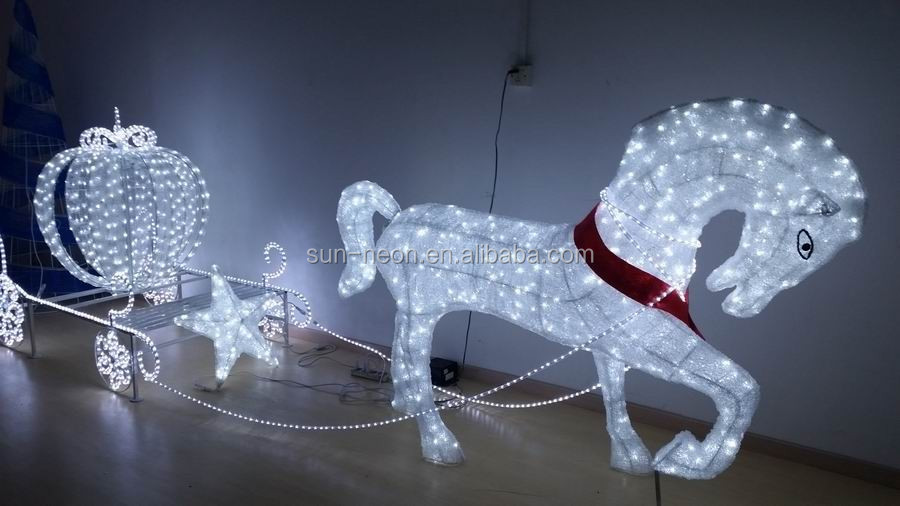 Christmas Lighted Horse Carriage Outdoor Decoration : Outdoor christmas decoration horse carriage buy