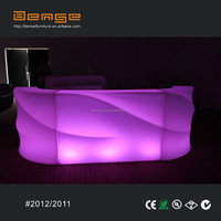 wave shape bar table glowing led lighting bar counter