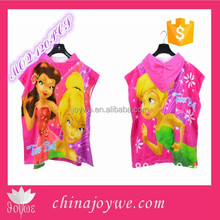 Custom Reactive Printed Hooded Poncho Towel For Kids