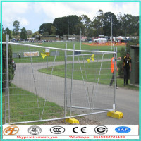 Cheap galvanized free standing portable temporary fencing