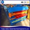 colored coil double panel forming machine/Colored Steel Roof Deck Tile Machine/Double Roof Tile Forming Machine