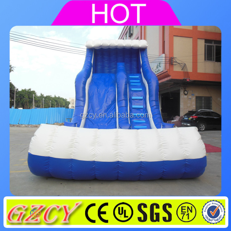 10m high inflatable Water Slide, inflatable slip and slide