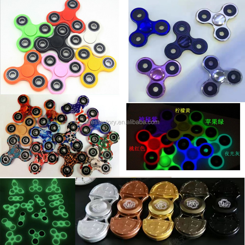 2017 New metal tri 608 bearing rainbow tri spinner