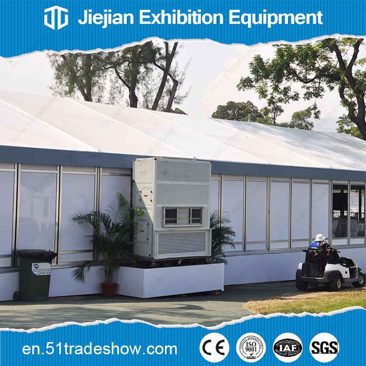 Mobile modern HVAC air conditioning services for wedding party tent