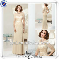 QQ346 Heavy beaded young mother of the bride dresses new arrivals 2014 long evening dresses
