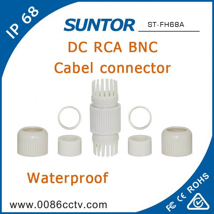 Dustproof <strong>10</strong> Pin RJ45 Bnc to F Male Connector with Wholesale Price
