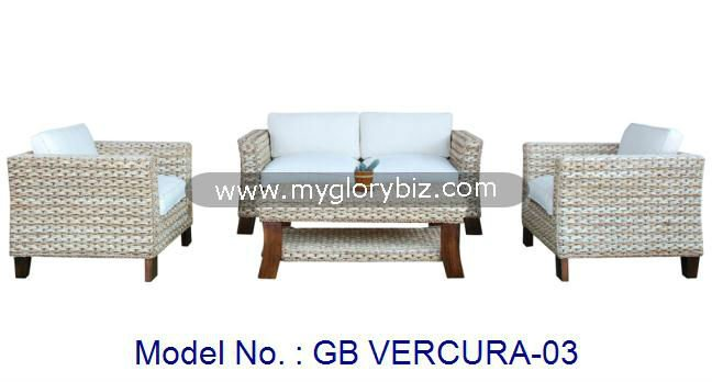 Modern Contemporary Natural Living Room Sectional Sofa Set In Elegant Style, rattan sofa set, modern living room furnitures