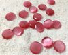 Wholesale faceted pink cat eye stone