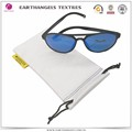 factory supply white microfiber eyewear cloth pouch