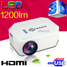 3D 1200lumens support FULL HD HD MI USB Video portable pico LCD LED Mini Projector Proyector Beamer Projetor