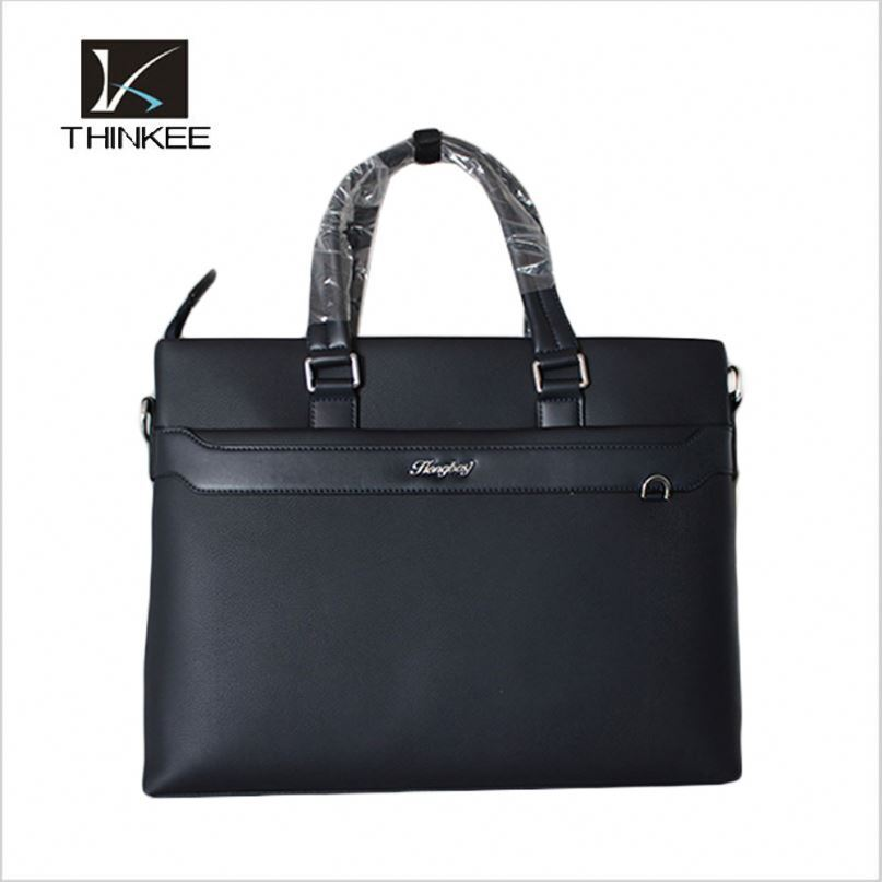 High quality kids bussiness bag men leather briefcase