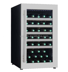 49 bottles free standing single zone compressor mini wine fridge