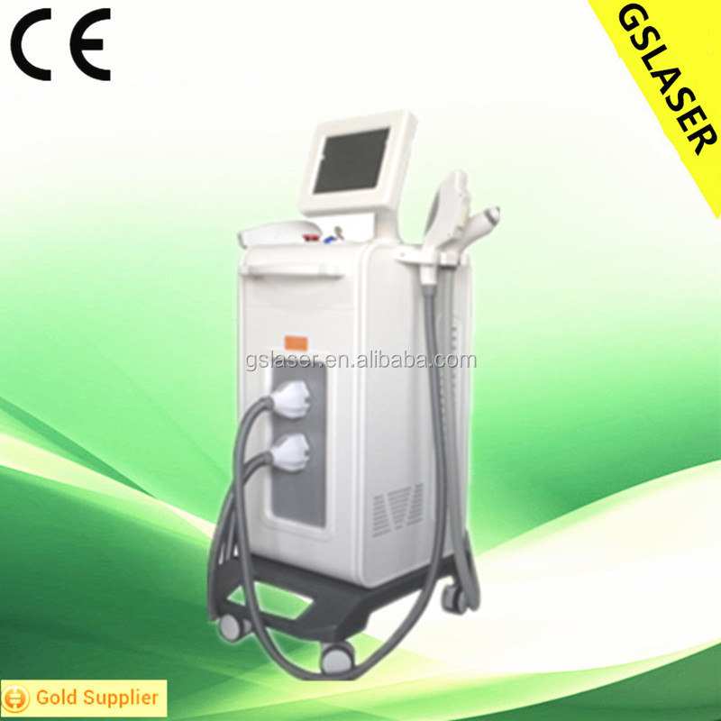 hot Multifunctional YAG laser RF IPL E-light skin tighten/freckle removal Beauty salon equipment with CE approval
