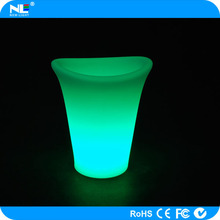 night bar ice bucket with led lights rechargeable colorful led ice wine bucket light cooler for party decoration