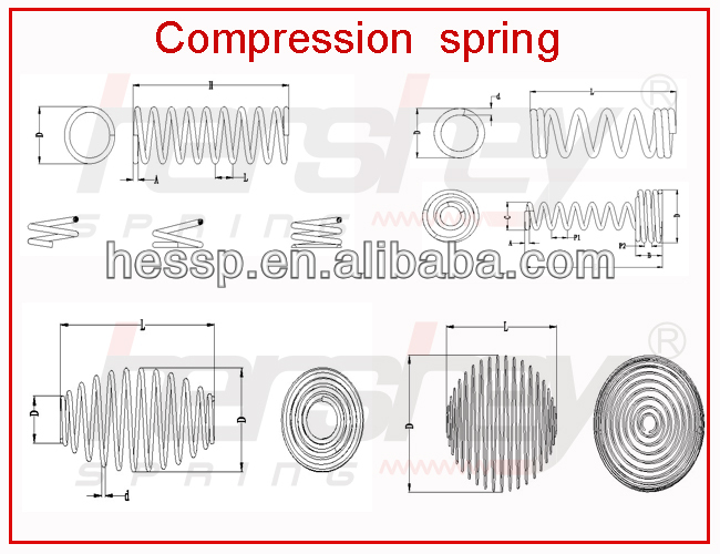 long spiral compression spring use in industrial compression spring supplier