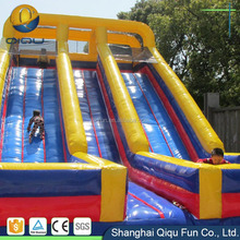 Good quality cool and interesting inflatable slide for pool indoor kids air slide spiral water slide